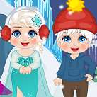 Elsa giết thời gian ngày tết
