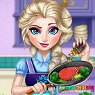 Elsa nấu ăn