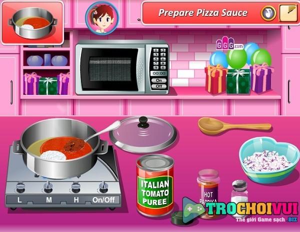 game Lam banh pizza tinh yeu hinh anh 2
