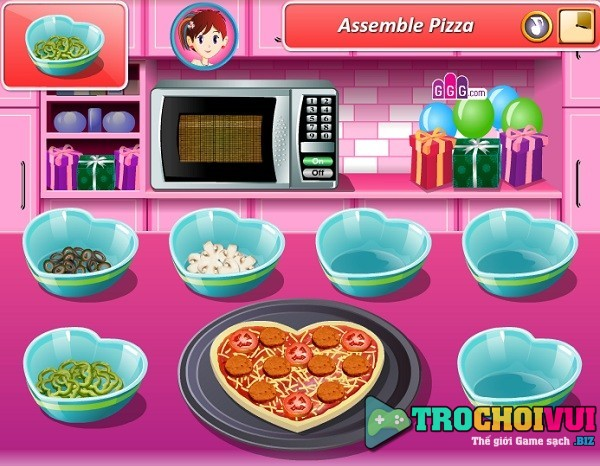 game Lam banh pizza tinh yeu hinh anh 4