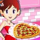 Làm bánh pizza tình yêu