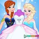 Thiết kế váy cưới cho Elsa và Anna