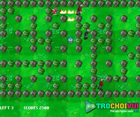 game Doremon vs zombies hinh anh 1