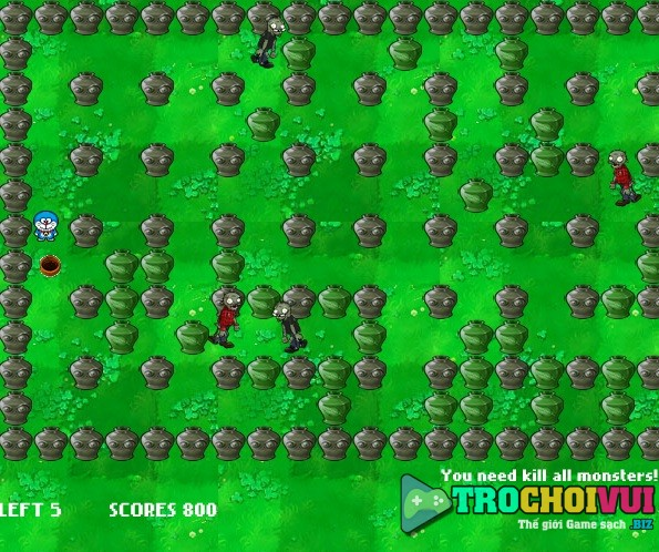 game Doremon vs zombies hinh anh 2