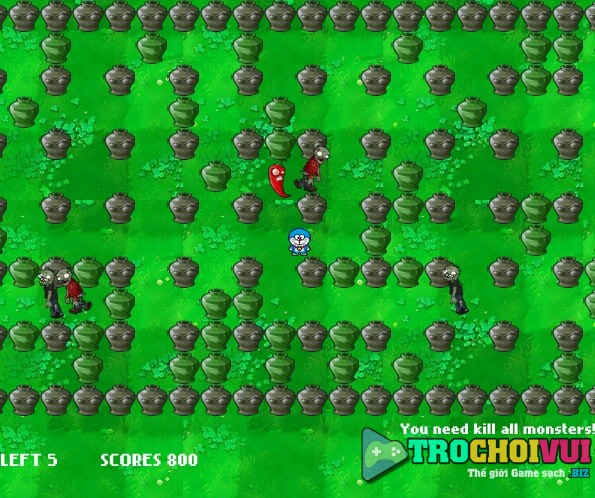 game Doremon vs zombies hinh anh 3
