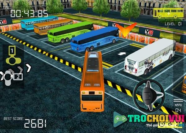 game Lai xe khach 3D 2 tang 50 cho