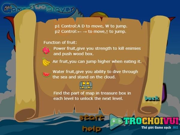 game Truy tim kho bau One Piece trong rung duoi bien