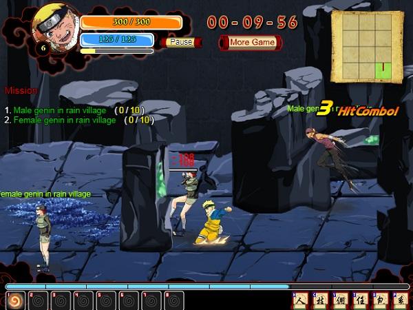 game Sieu anh hung ki su Naruto online
