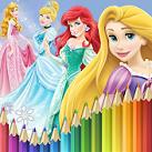 Tô màu công chúa chibi
