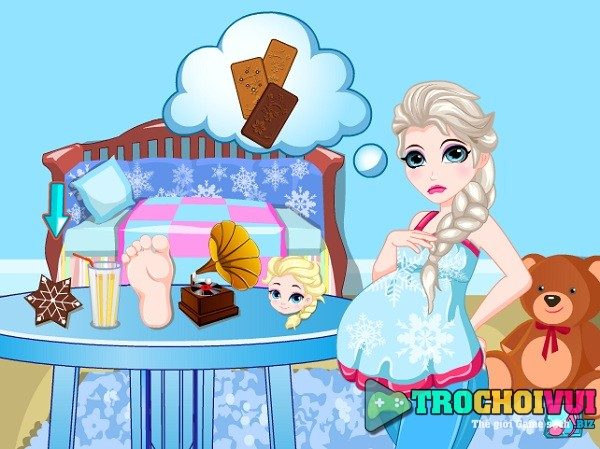 game Cham soc ba bau Elsa 3 thang cuoi