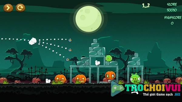 game Angry birds halloween online