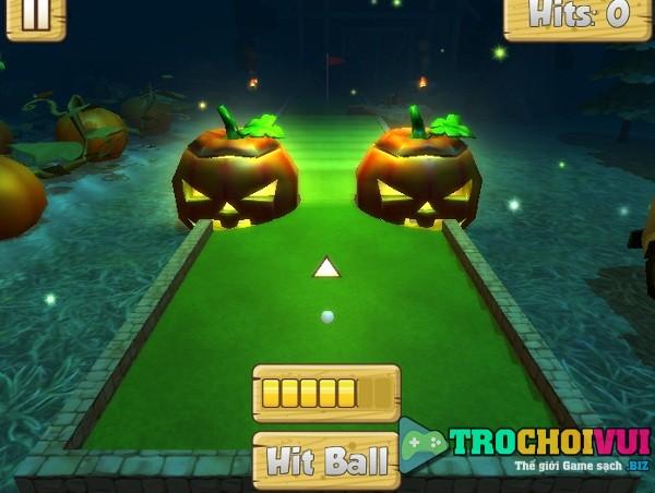 game Danh golf mini halloween 3d online