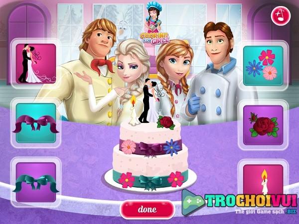 game Elsa va Anna lam banh cuoi hinh anh 4