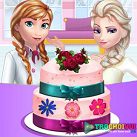Elsa và Anna làm bánh cưới