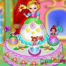 Làm bánh kem công chúa 2