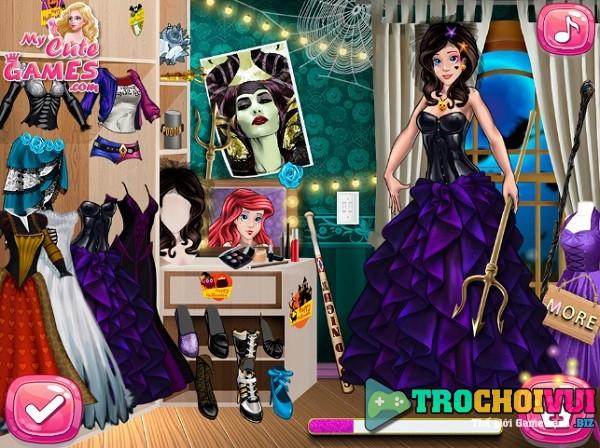 game Thoi trang cong chua Disney halloween hinh anh 2