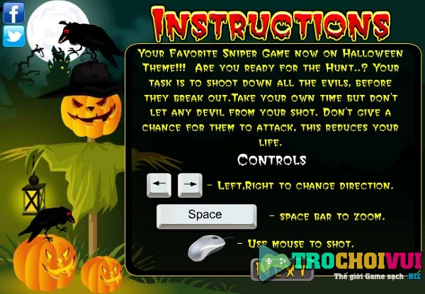 game Xa thu halloween hinh anh 1