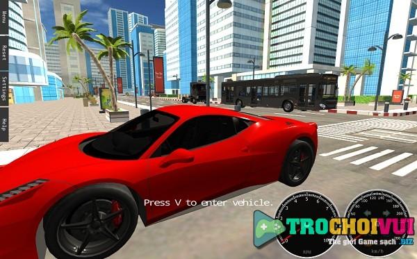 game Lai xe mo phong 3d online