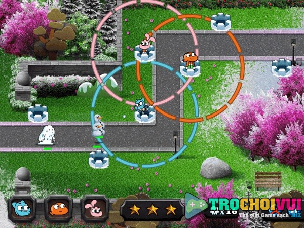 game Gumball bao ve giang sinh snow stoppers