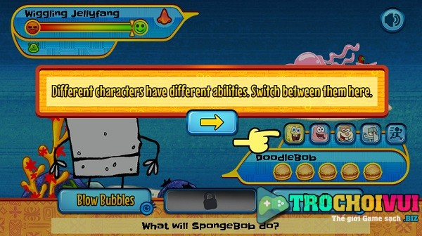 game Spongebob hon dao quai vat monster island adventures
