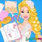 Thiết kế váy cưới cho Barbie