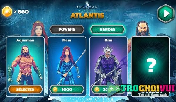 game Aquaman De vuong Atlantis online
