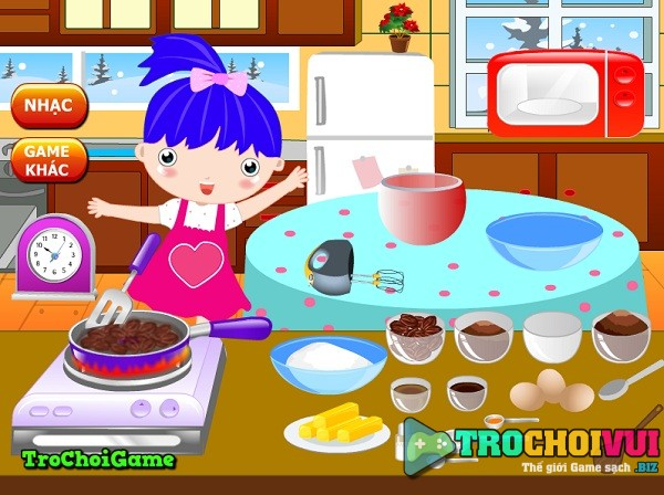 game Lam banh pudding nam moi hinh anh 1