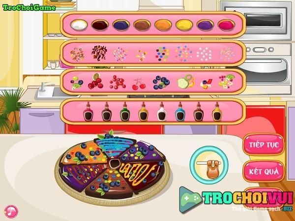 game Lam banh pizza socola hinh anh 3