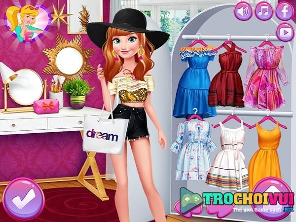 game Elsa va Anna thi thoi trang hinh anh 1
