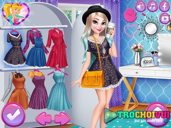 game Elsa va Anna thi thoi trang hinh anh 2