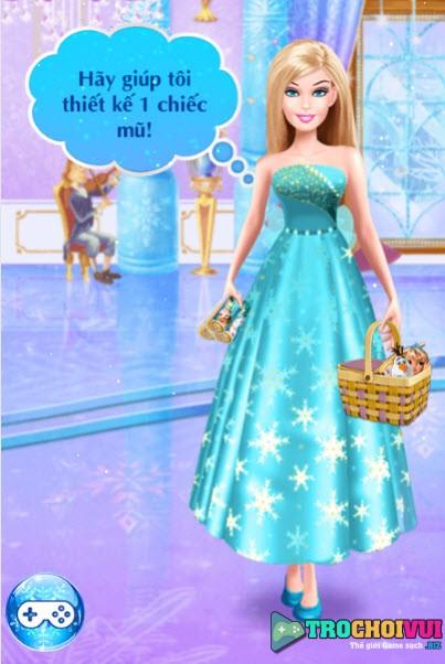 Game cong chua barbie hoa trang nu hoang elsa anh 1