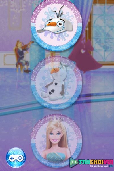 Game cong chua barbie hoa trang nu hoang elsa