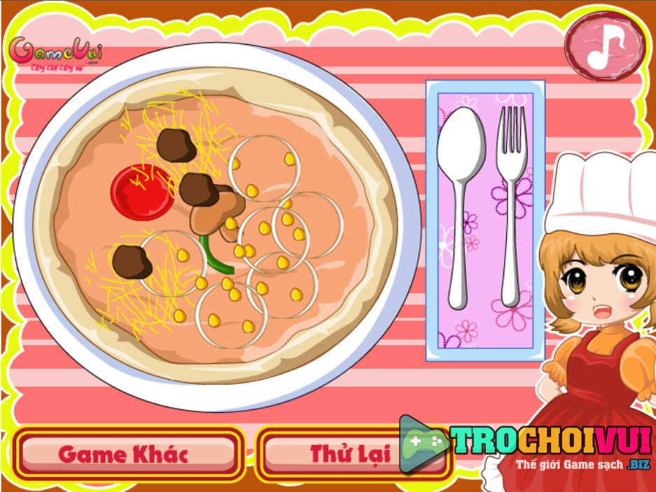 Game be tap lam banh Pizza anh 3