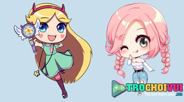 Game trang diem chibi anime anh 1