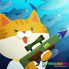 Mèo đi câu cá