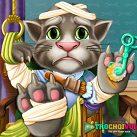 Trị thương cho mèo Tôm